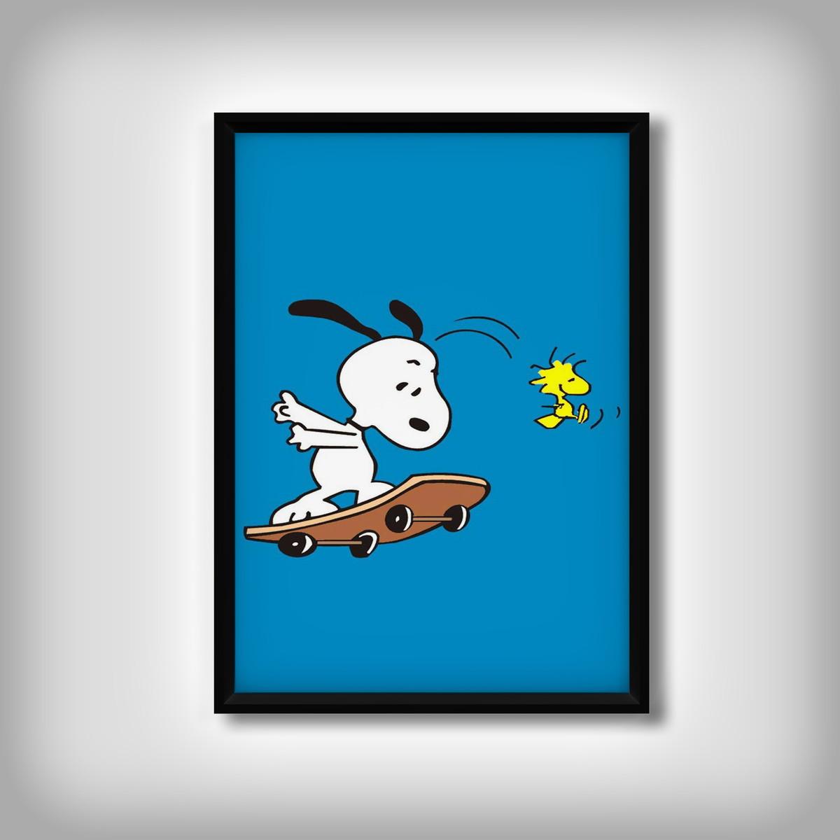 Quadro Snoopy Desenhos Animados