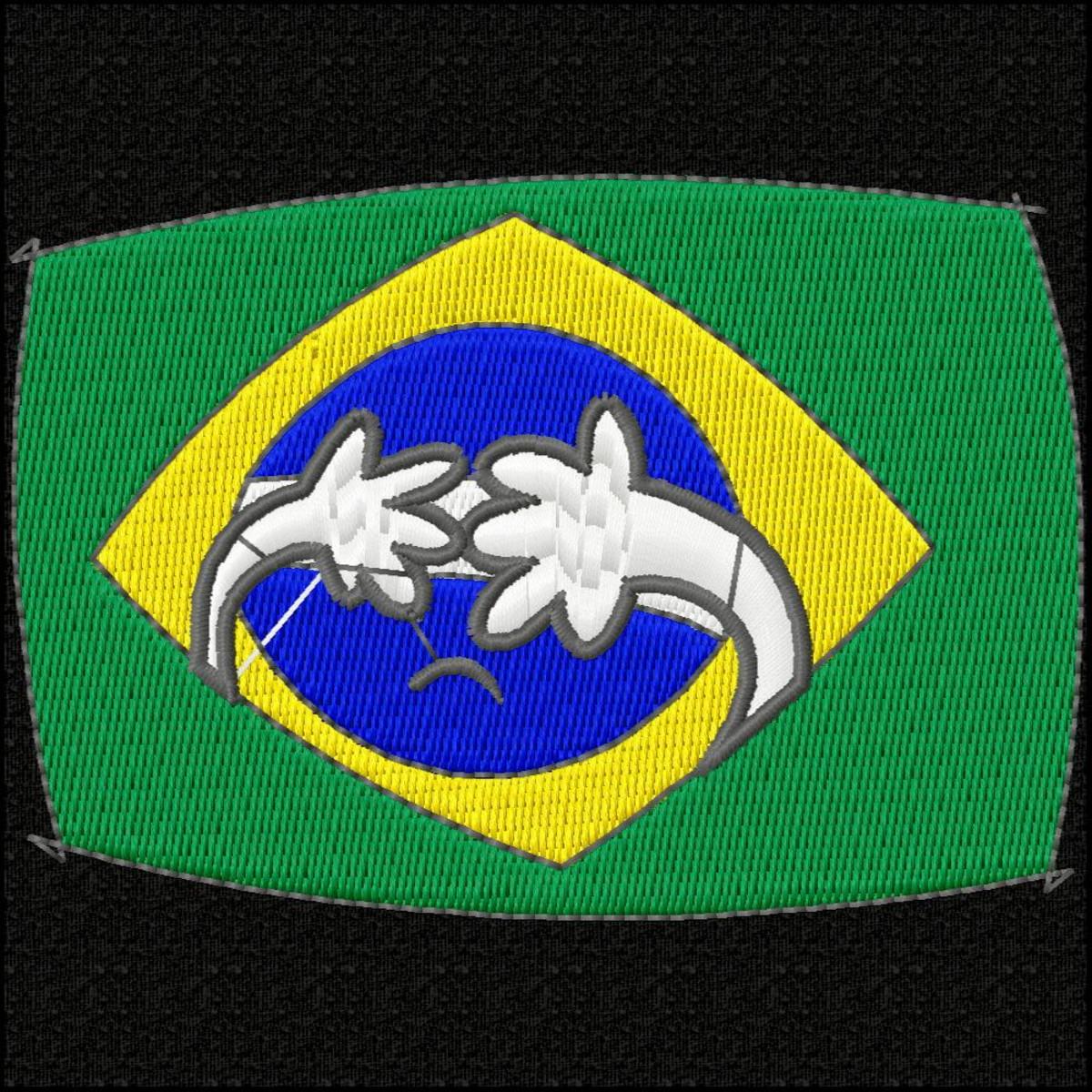 Matriz de bordado BCI0413 brasil vergonha no Elo7 | MERCADO DOS BORDADOS (D90121)