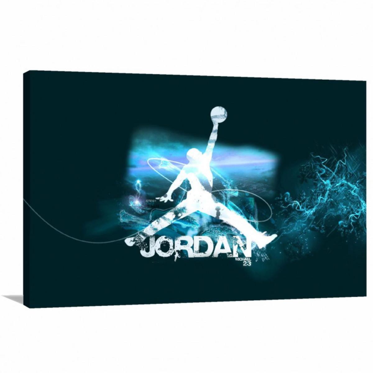 9d722c684d8 Quadro decorativo Michael Jordan Basquete - Tela em Tecido no Elo7 ...