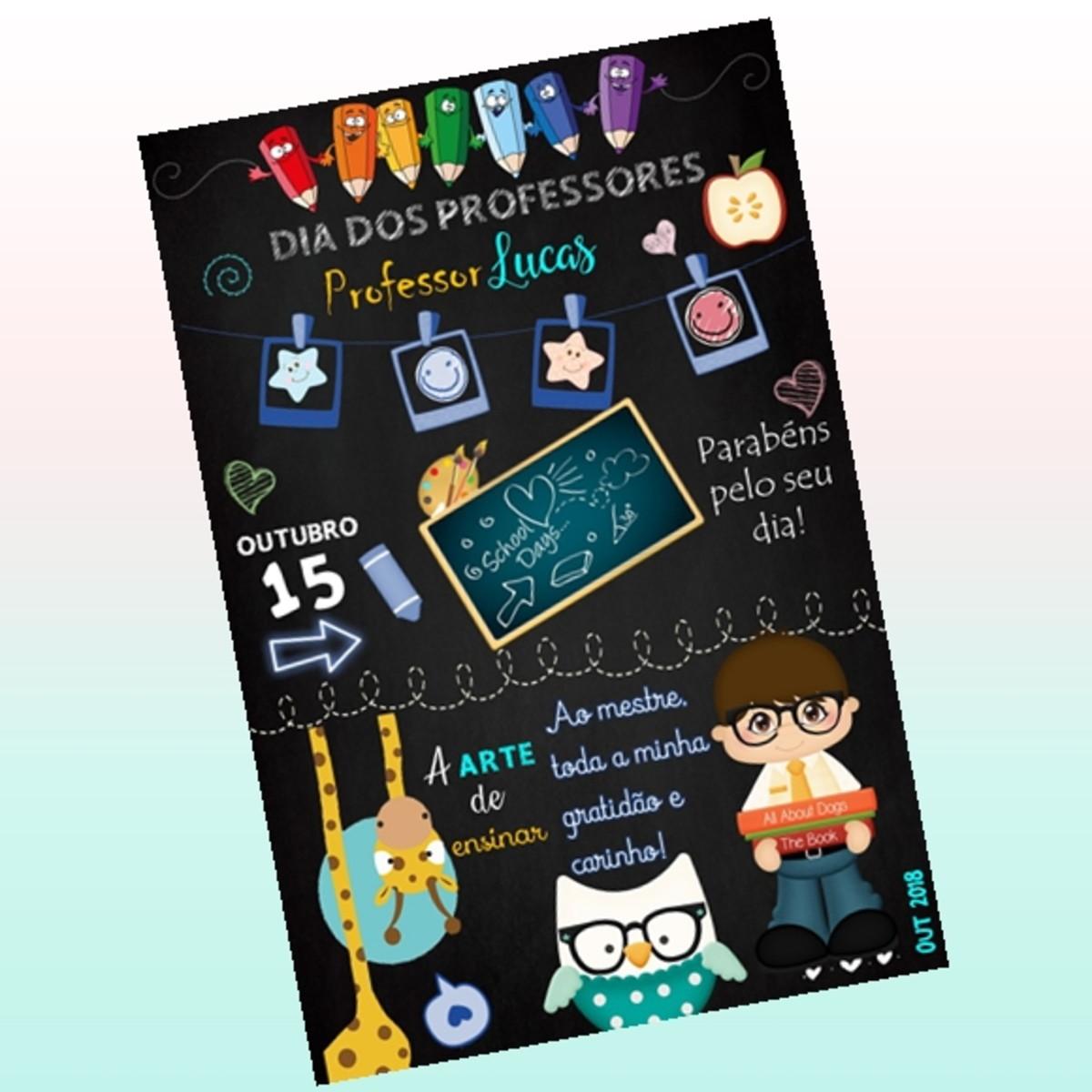 Chalkboard Dia Dos Professores No Elo7 Arte Da Vivi Artes Digitais D9418b