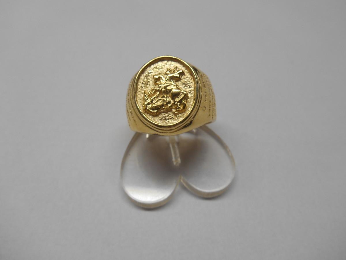 anel são jorge com oração folhado a ouro 18k no Elo7   M M Folheados ... 580f3e71ce