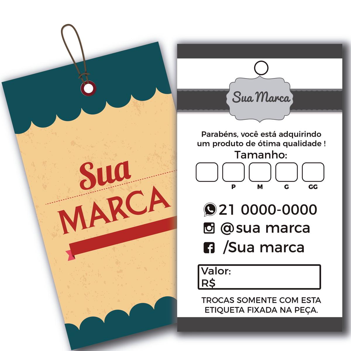 1baaa37963 3000 Etiqueta Tag personalizada roupa artesanatos brinde no Elo7 ...
