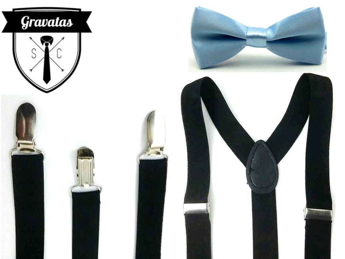 c5e079a99 Kit Suspensório + Gravata Azul Bebê Infantil 0 a 13 anos no Elo7 ...