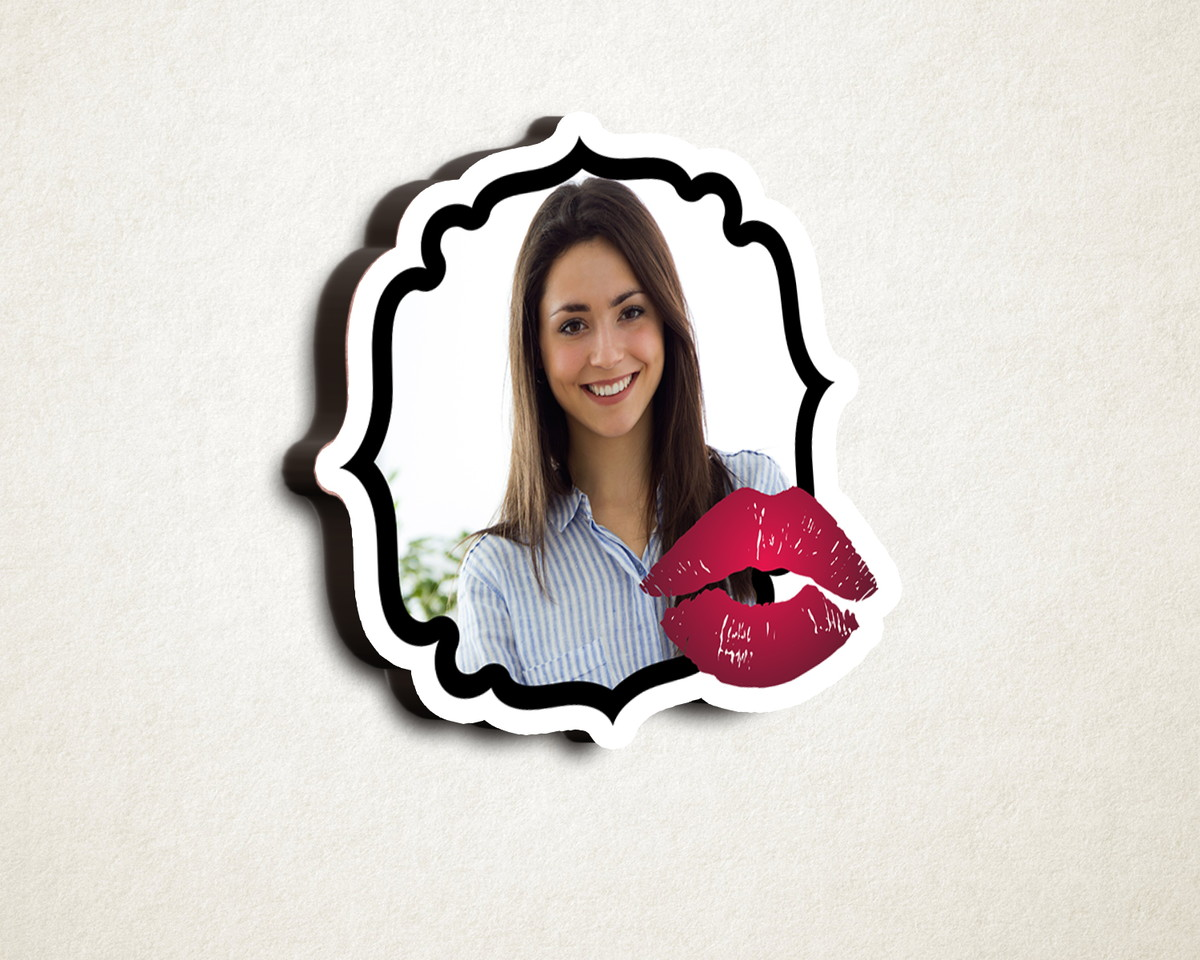 Aplique placa quadro com foto - MDF - beijo batom vermelho no Elo7 ... 190574602afe6