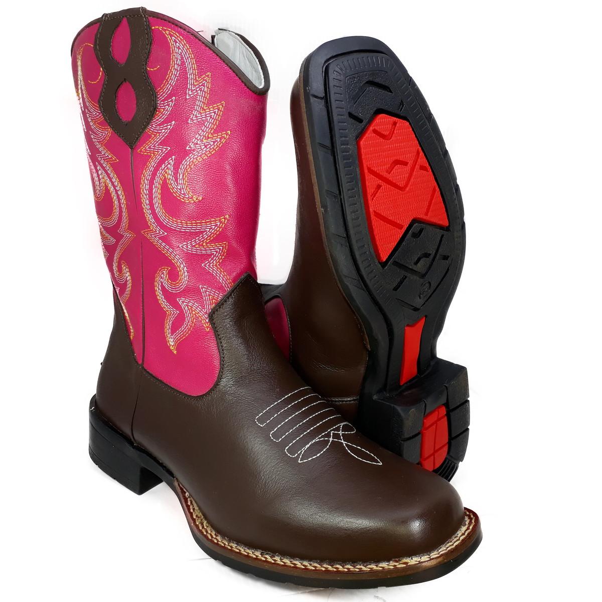 31099efcba Bota Country Feminina Masculina Bico Quadrado Texana K9015 no Elo7 ...