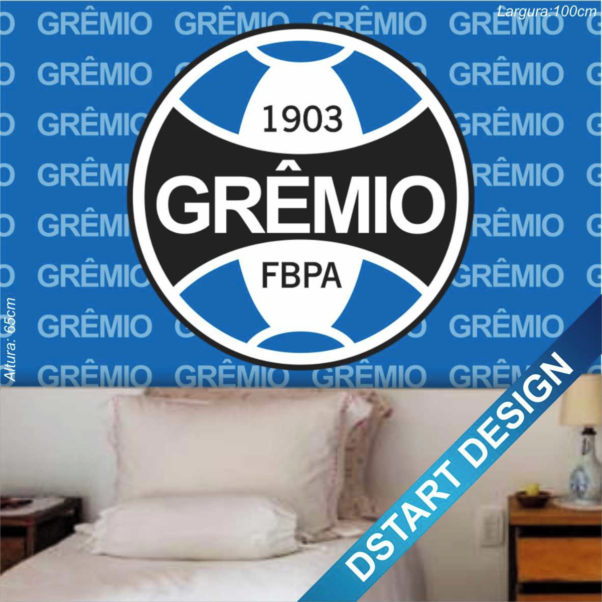 Adesivo Vinil Impresso 100x65cm Time Futebol Grêmio Mod.1 no Elo7 ... c89a675ca7565
