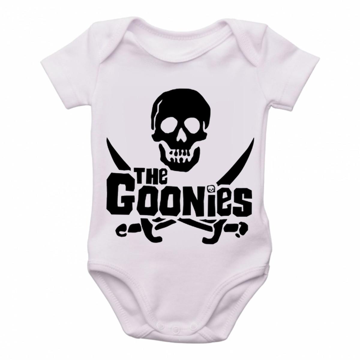 2d365ec67f Body Bebê Roupa Infantil Criança The Goonies caveira pirata no Elo7 ...