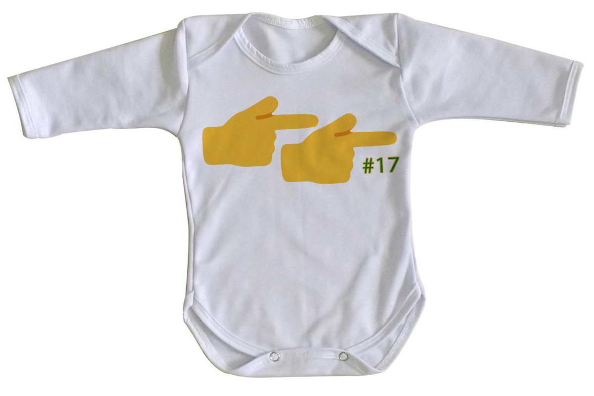 b3f2b99cca3 body Manga Longa Criança Roupa Bebê Mãos emoticons 17 arma no Elo7 ...