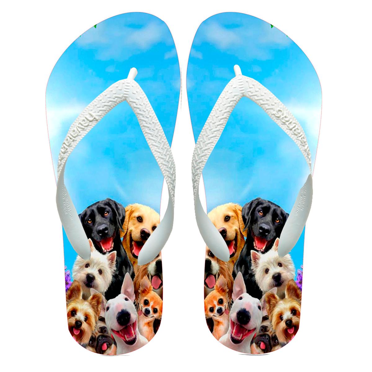 ba6dd38bc4 Chinelos havaianas personalizado cachorros no Elo7