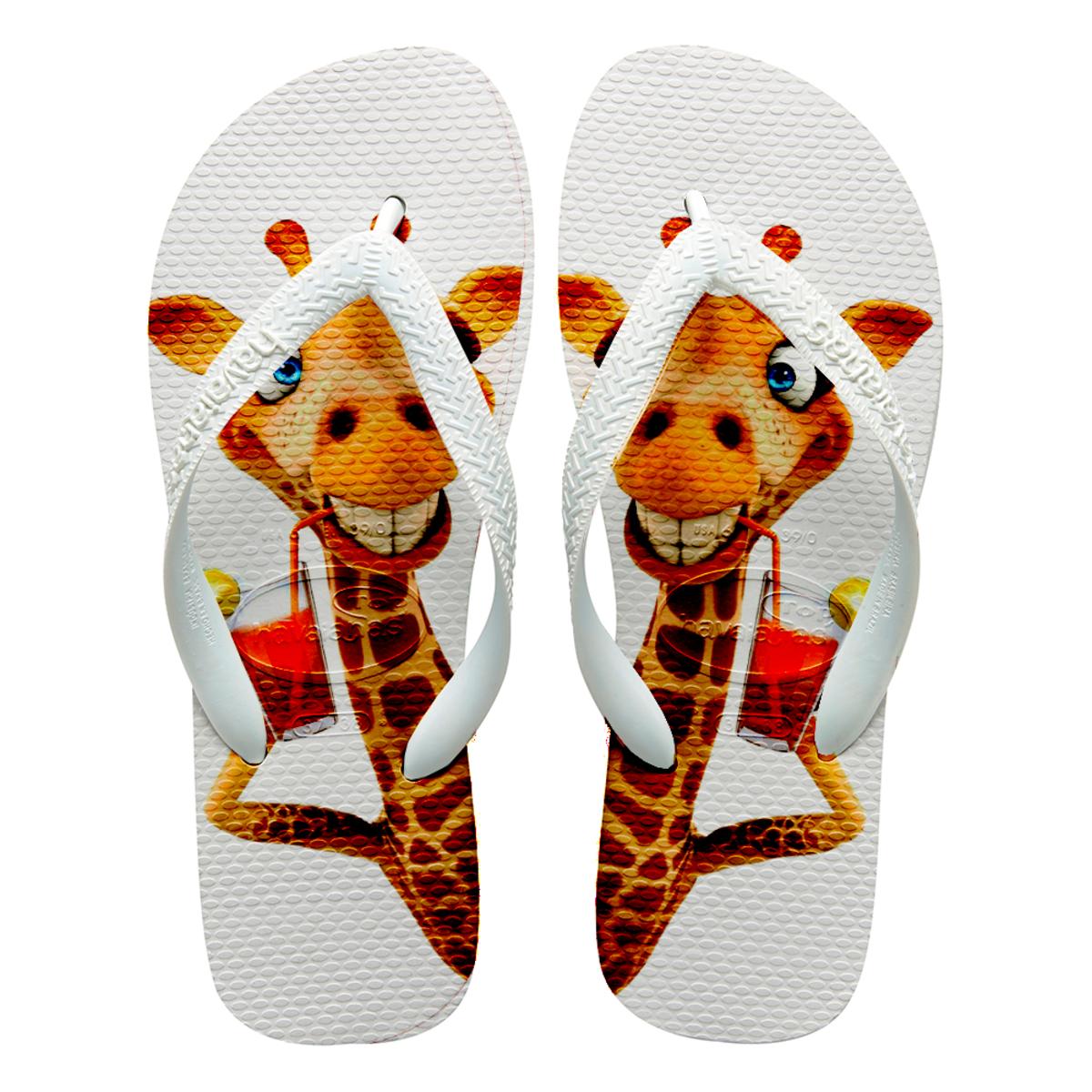 d2e58e7605 Chinelos havaianas personalizado girafa no Elo7