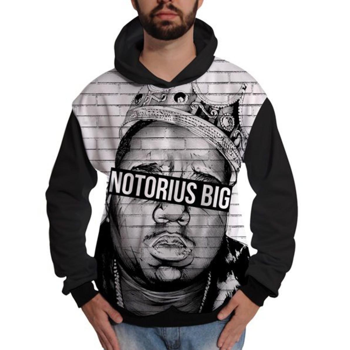 f998c7f54d4a8 Blusa de Moletom Biggie Notorious Big Rapper Hip Hop King no Elo7 ...