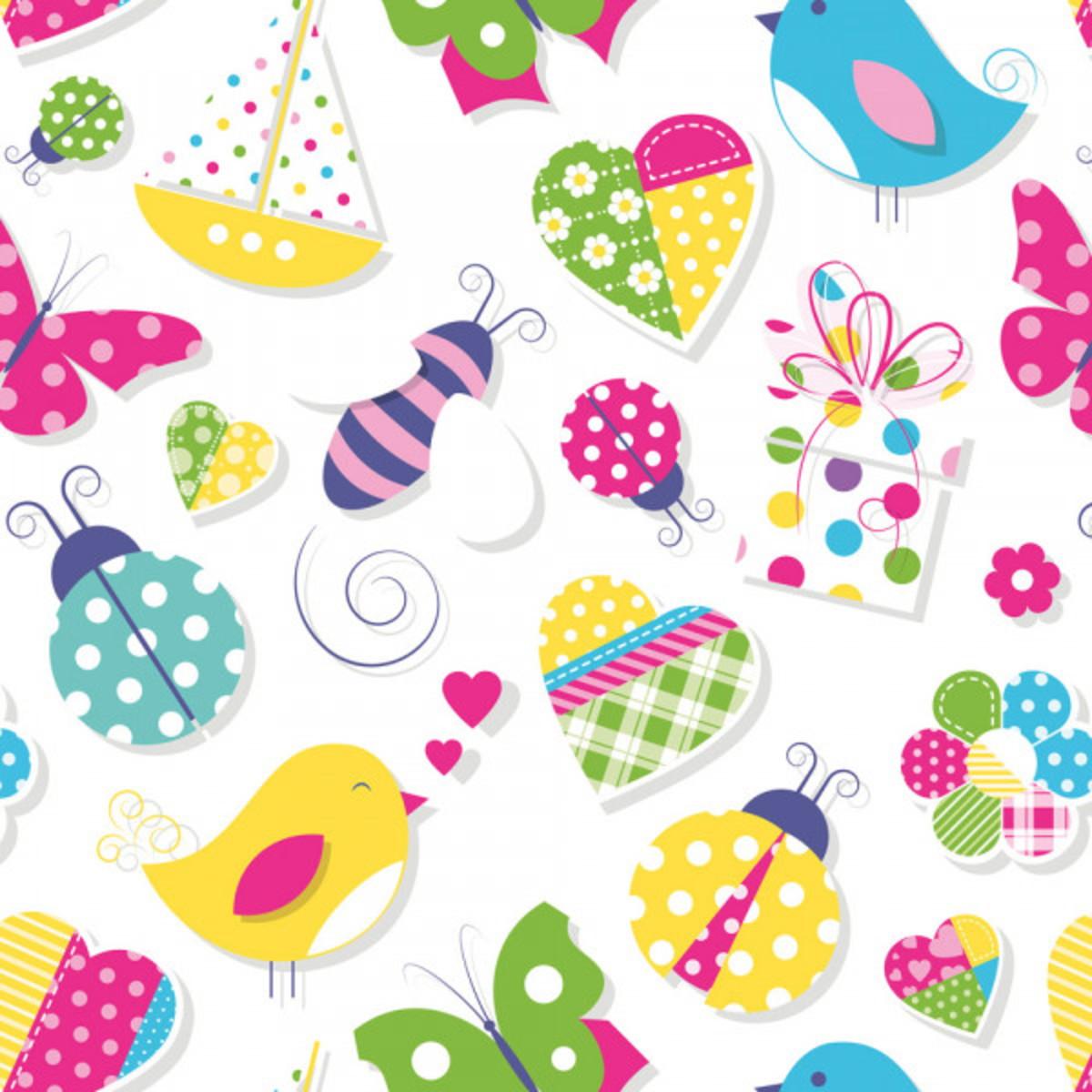 Papel de parede ambiente crian a adesivo infantil colorido - Papel infantil para paredes ...
