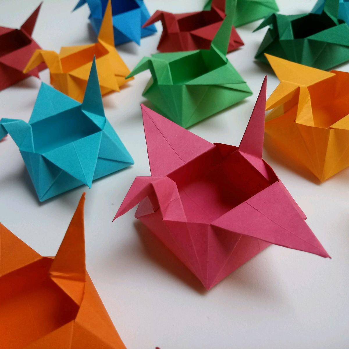 Caixa Tsuru Cores Forminha Para Doces Em Origami No Elo7 Ateliê