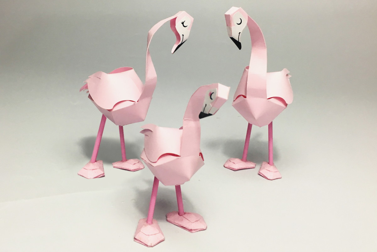 How to make the Paper Flamingo by Assembli - YouTube | 804x1200