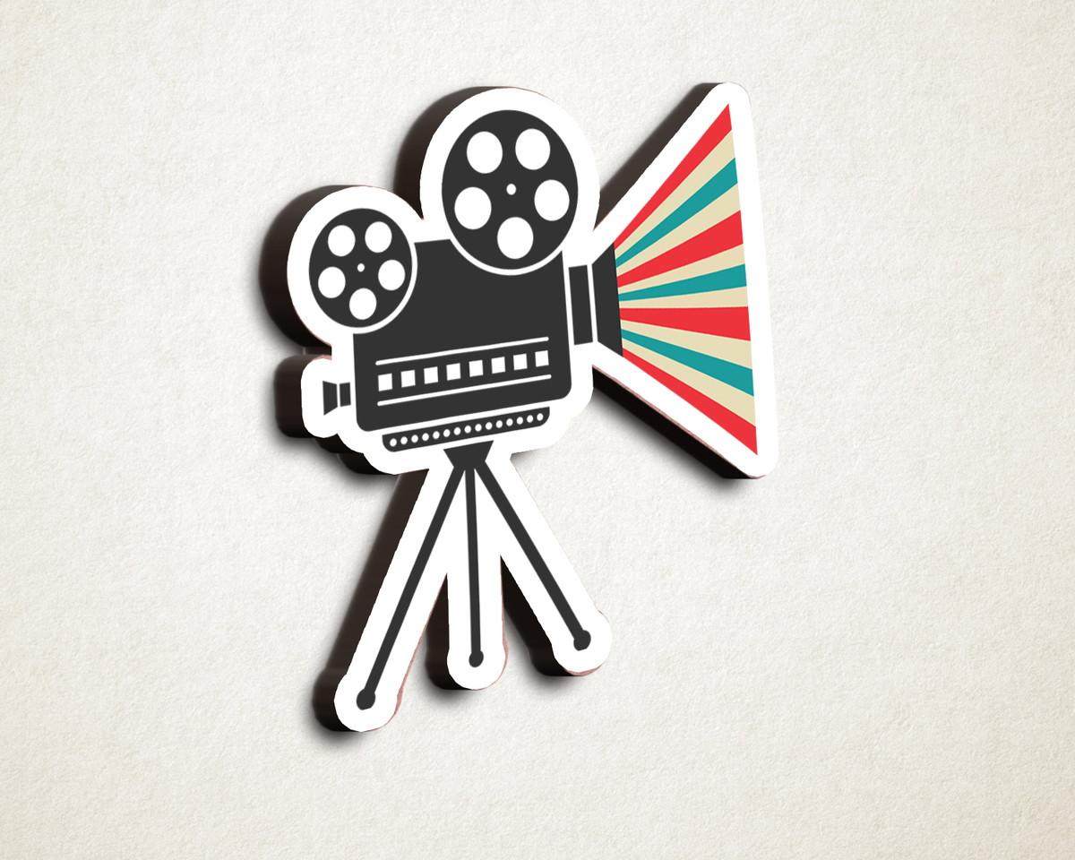 4b937dbe31e1e Aplique placa quadro - MDF e impressão– cinema câmera no Elo7   A ...