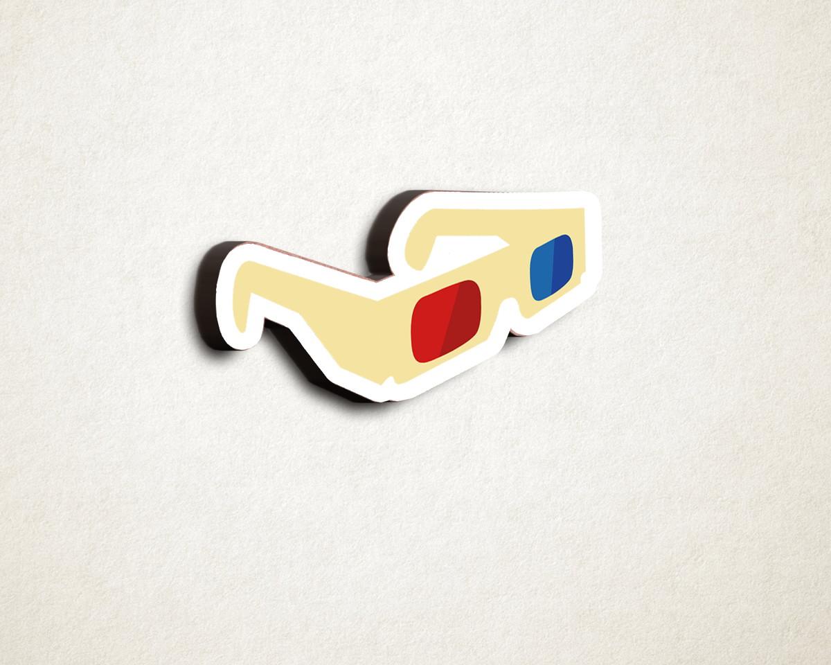 Aplique placa quadro - MDF e impressão– cinema óculos 3D no Elo7   A ... 5ddd5a3c38