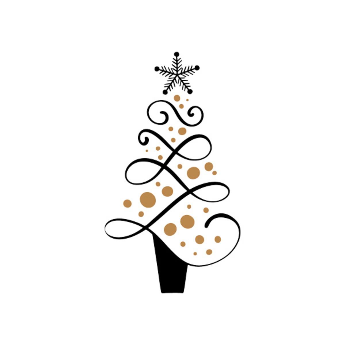 árvore De Natal Ornamento Arquivo De Corte
