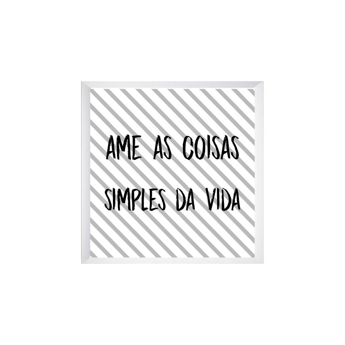 Quadro Ame As Coisas Simples Da Vida No Elo7 Ateliê Ana ávila Dad9b7