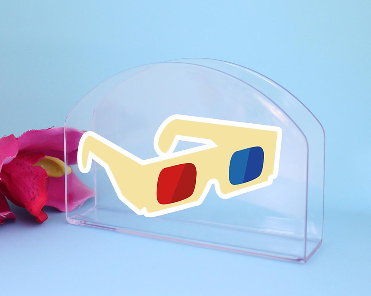 Porta-guardanapo de mesa - cinema óculos 3D no Elo7   A Carol que ... 262b4ce904
