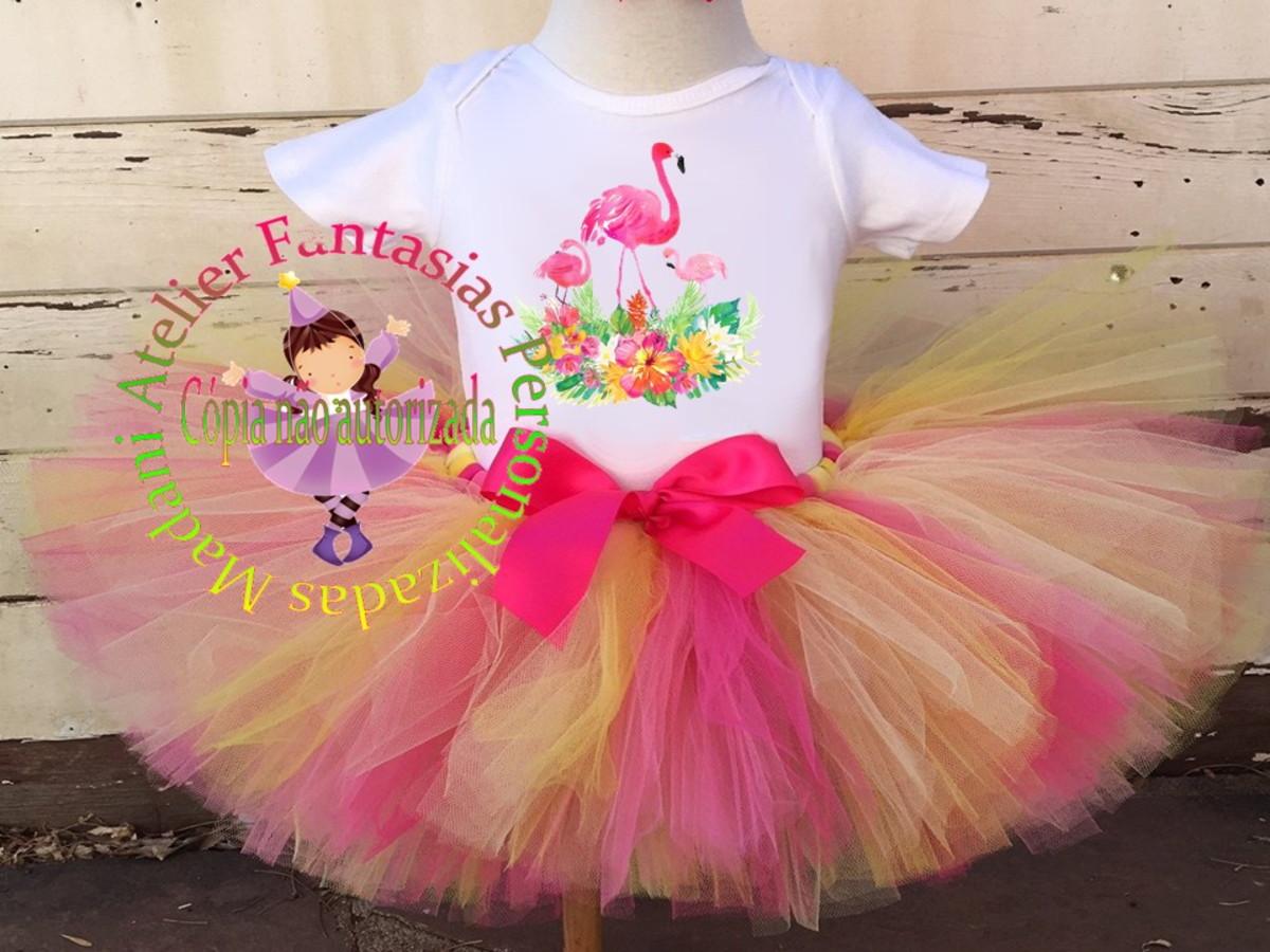 Fantasia Infantil Luxo Tutu Tema Flamingo 1 Ao 8 No Elo7 Atelier Madani Fantasias Personalizadas Daea3c