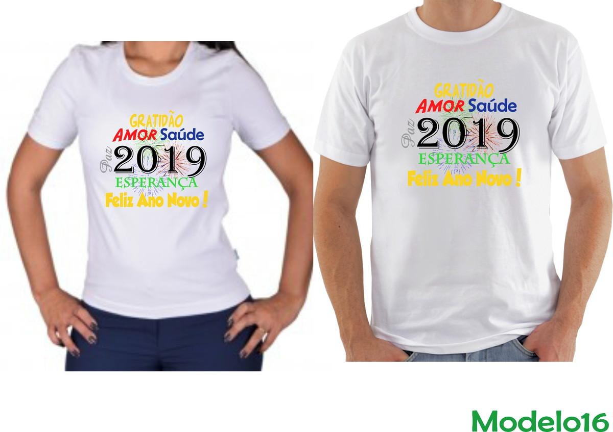 Kit Camisetas Para Casais Ano Novo 2019 Personalizadas No Elo7