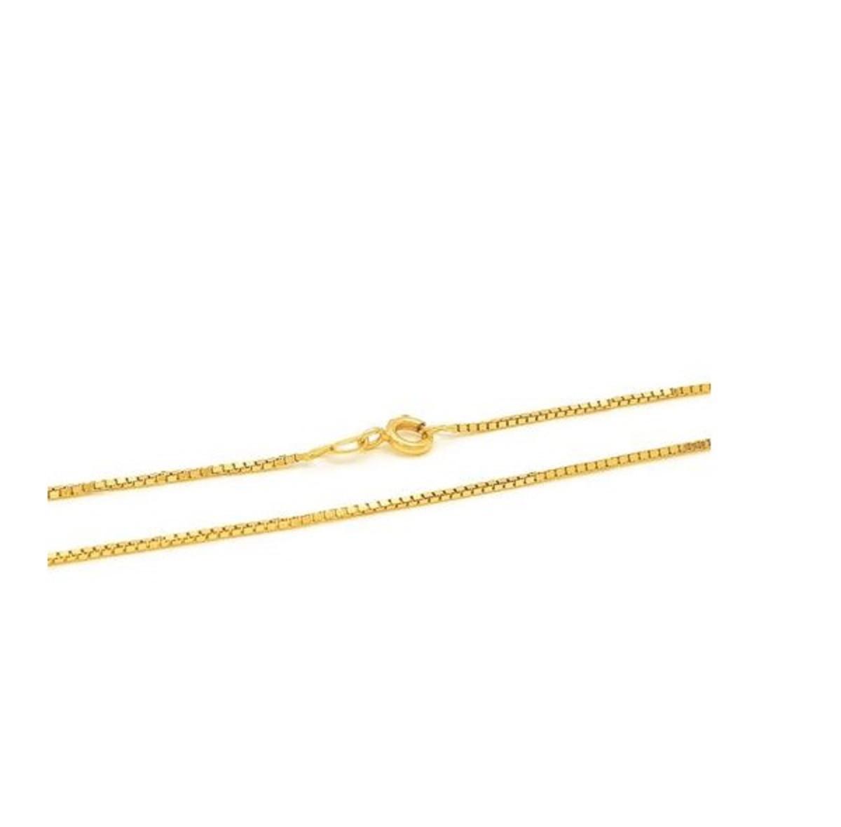 f0669d276e5a5 Corrente Veneziana 45cm em Ouro 18k no Elo7   Crislu Personalizados ...