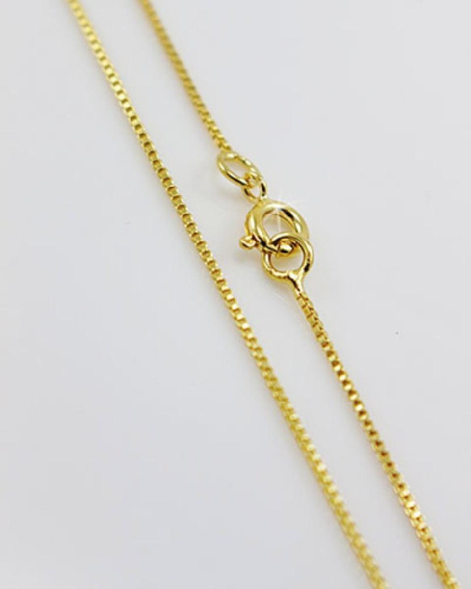 9125038a388f6 Corrente Malha Veneziana 60cm em ouro 18k no Elo7