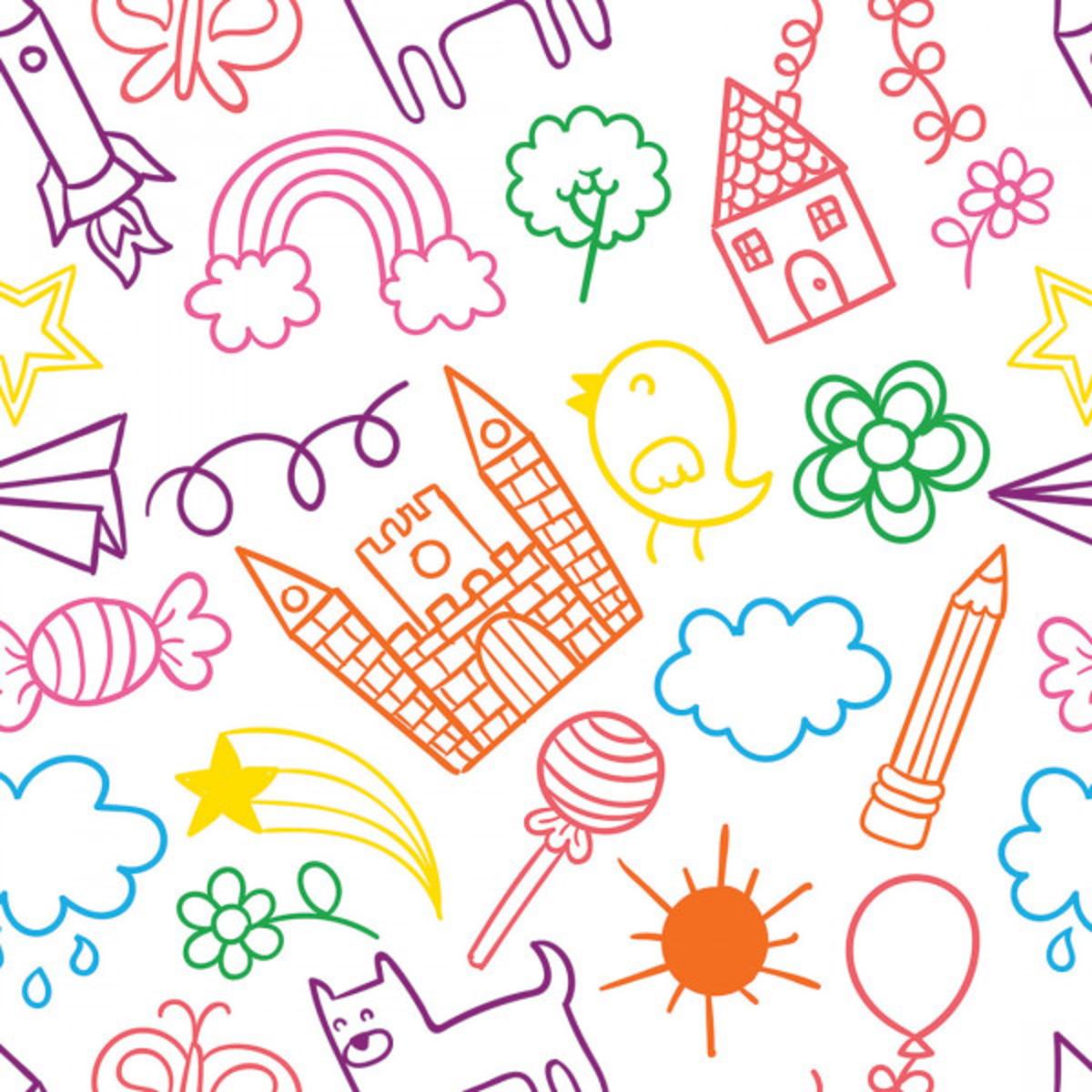 Papel De Parede Colorido Desenho Infantil Escola No Elo7 Sete