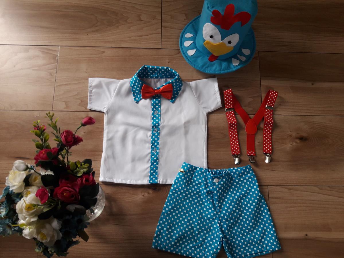 00405a6790 Fantasia Galinha Pintadinha Menino Azul Clean  bolinhas no Elo7 ...