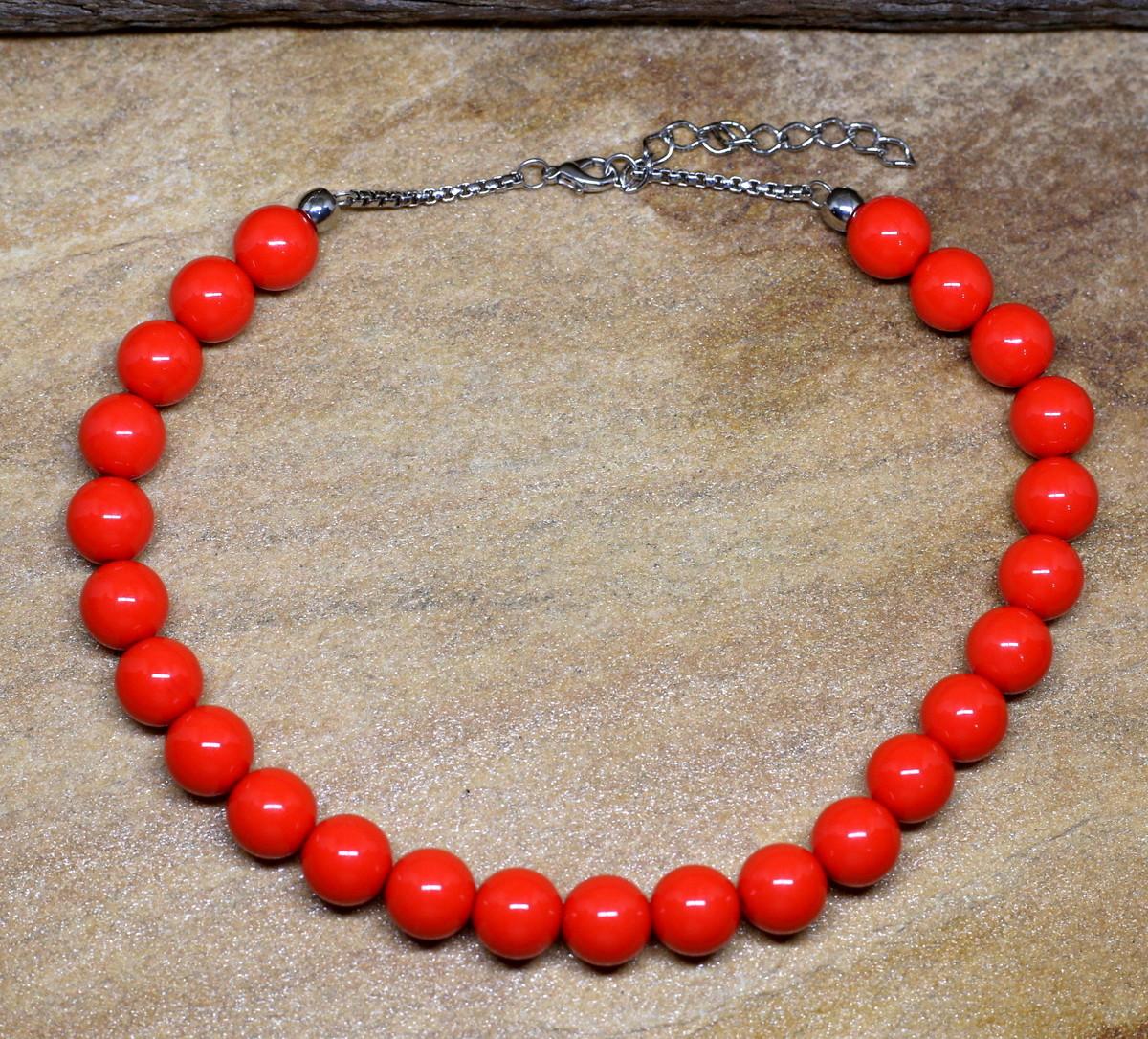 7cff3491323 Colar de bolas coral acessorios femininos bijuterias no Elo7