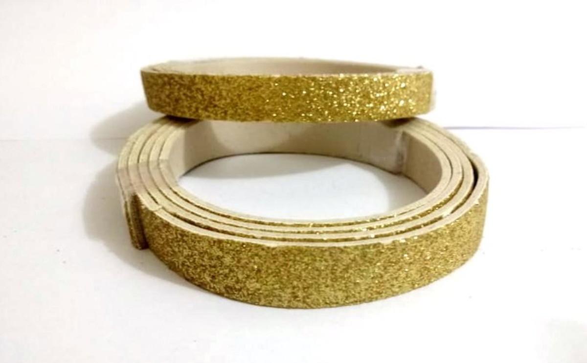 ae0ae745187 Couro Glitter Dourado no Elo7