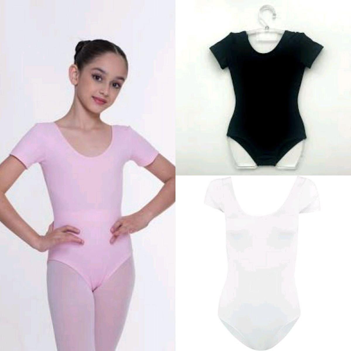 94693a21ab Collant manga curta ballet balé infantil no Elo7