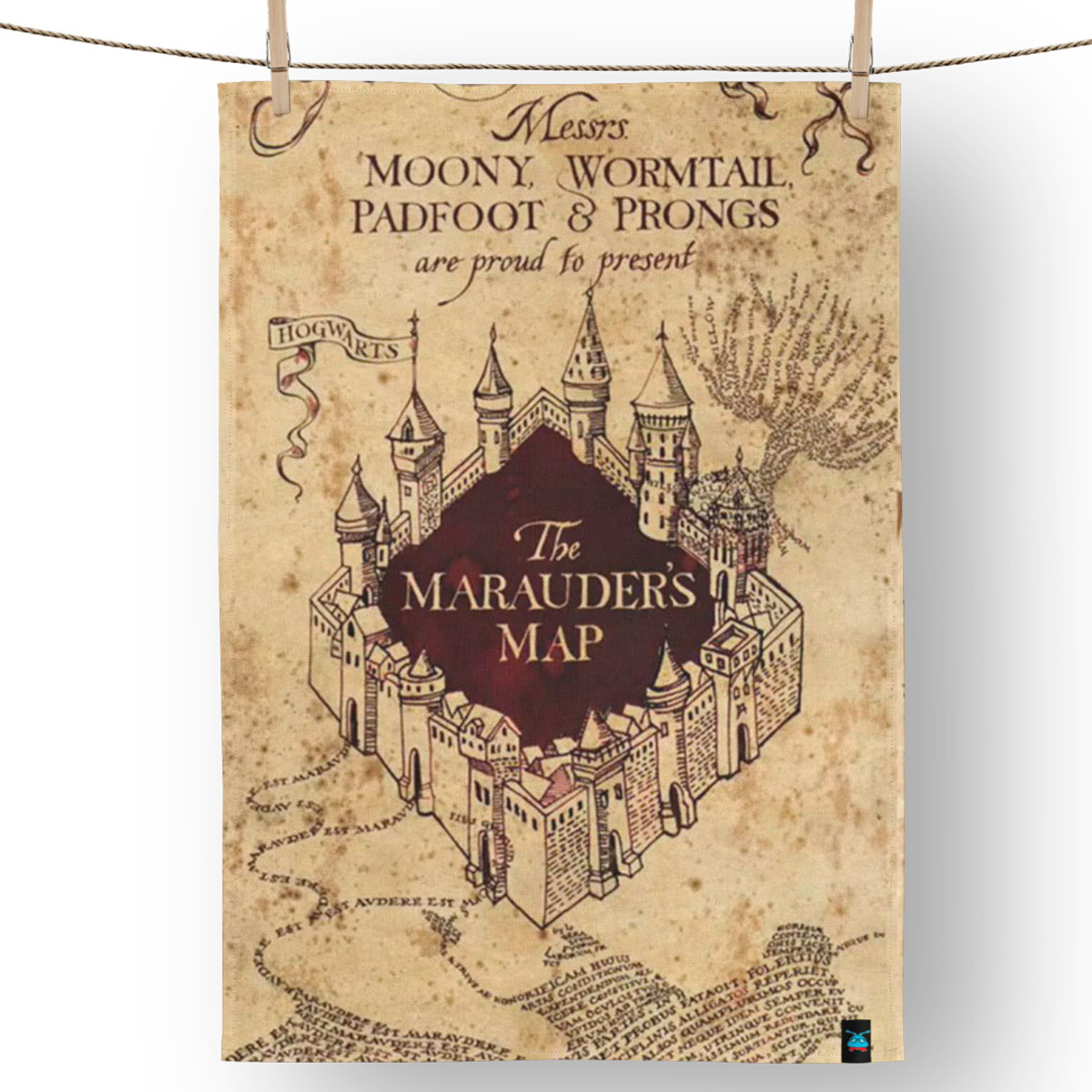 Pano De Prato Mapa Do Maroto Harry Potter No Elo7 Fumiga