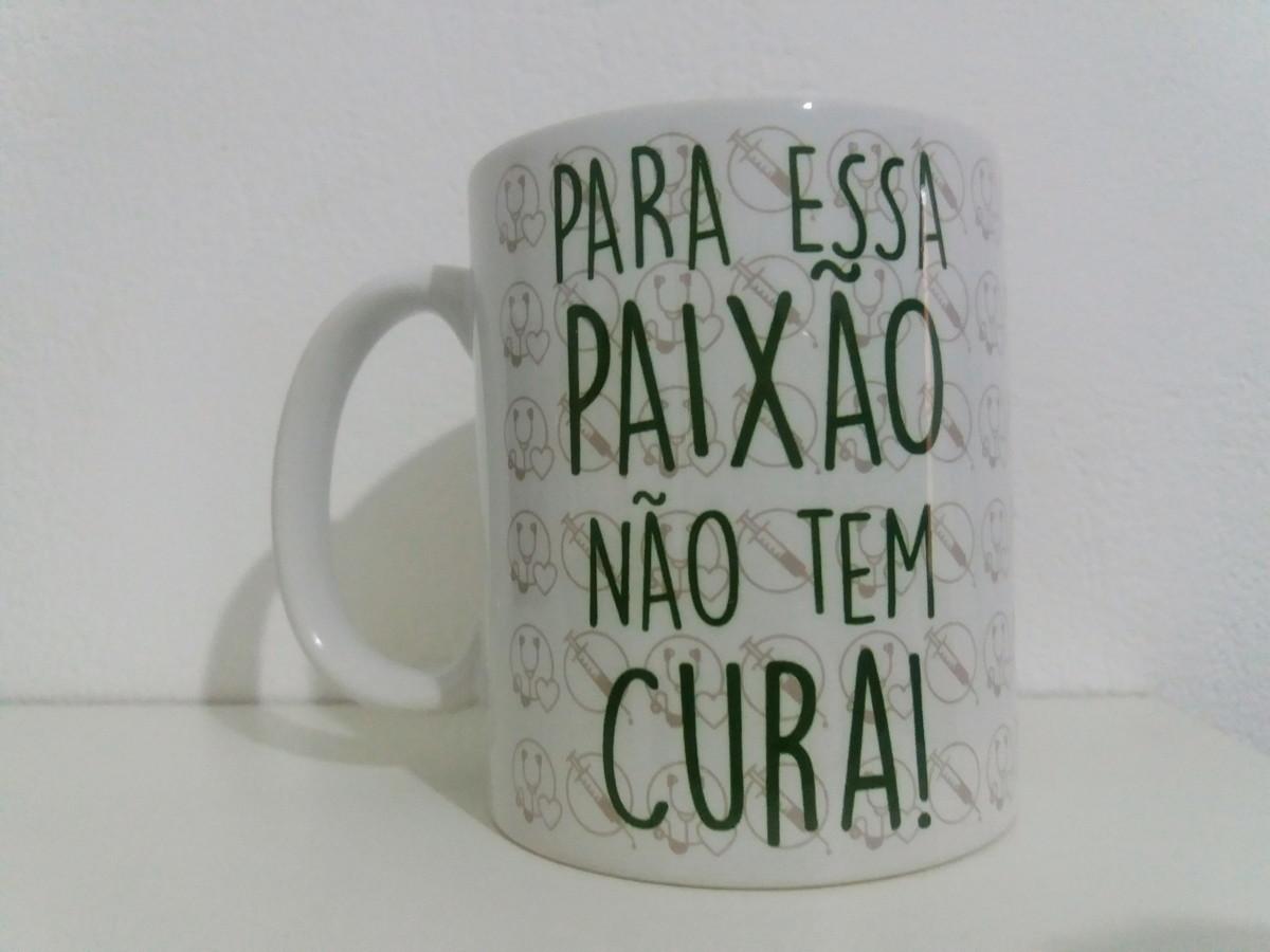 Caneca Enfermagem Com Frase E Foto