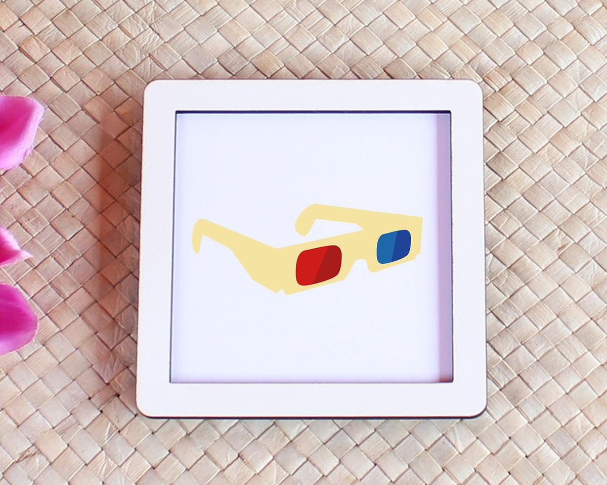 Placa quadrinho com impressão - cinema óculos 3D no Elo7   A Carol ... f566877188