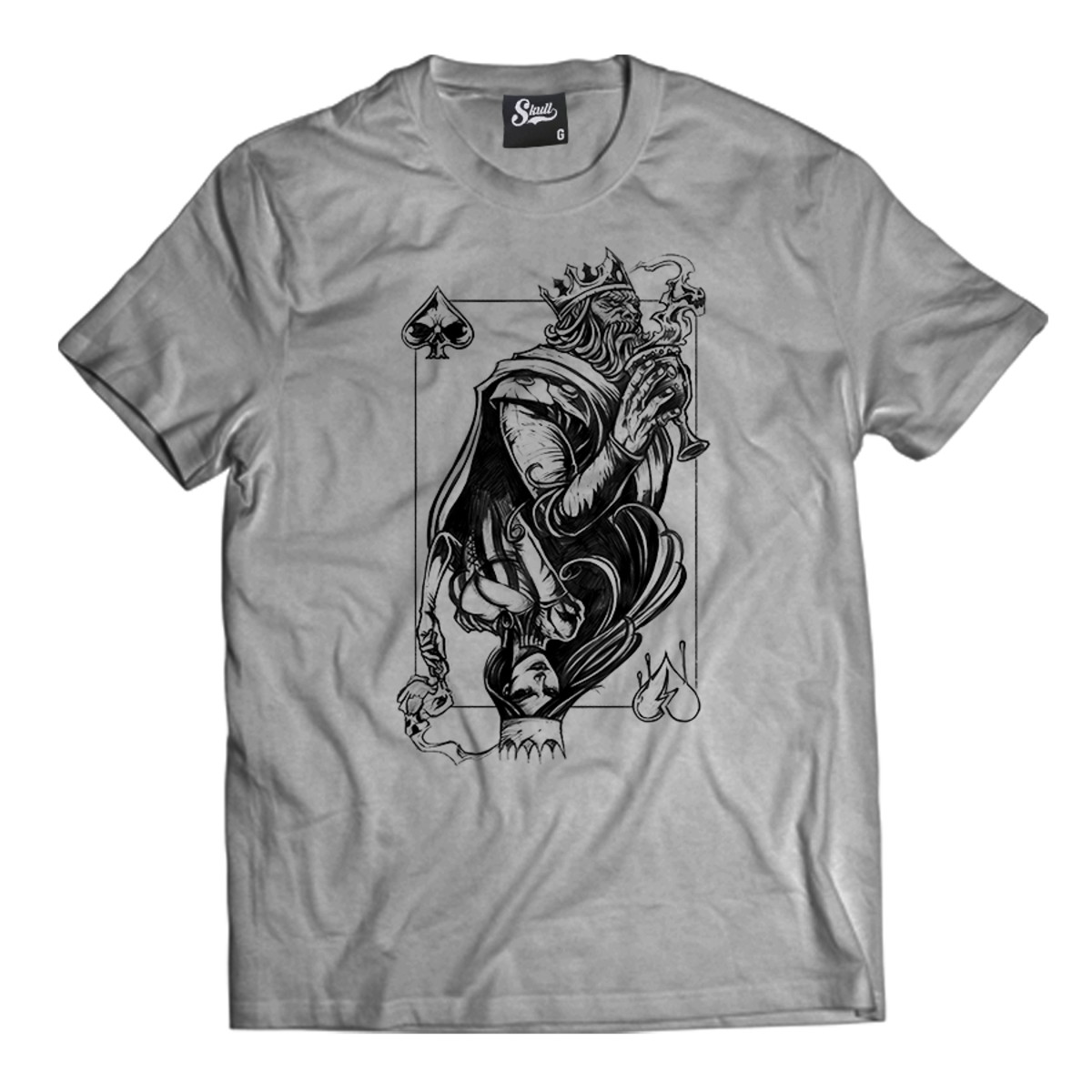 69d5276ec Camiseta Rei e Rainha Naipes Camisa Masculina Carta Top Swag no Elo7 ...