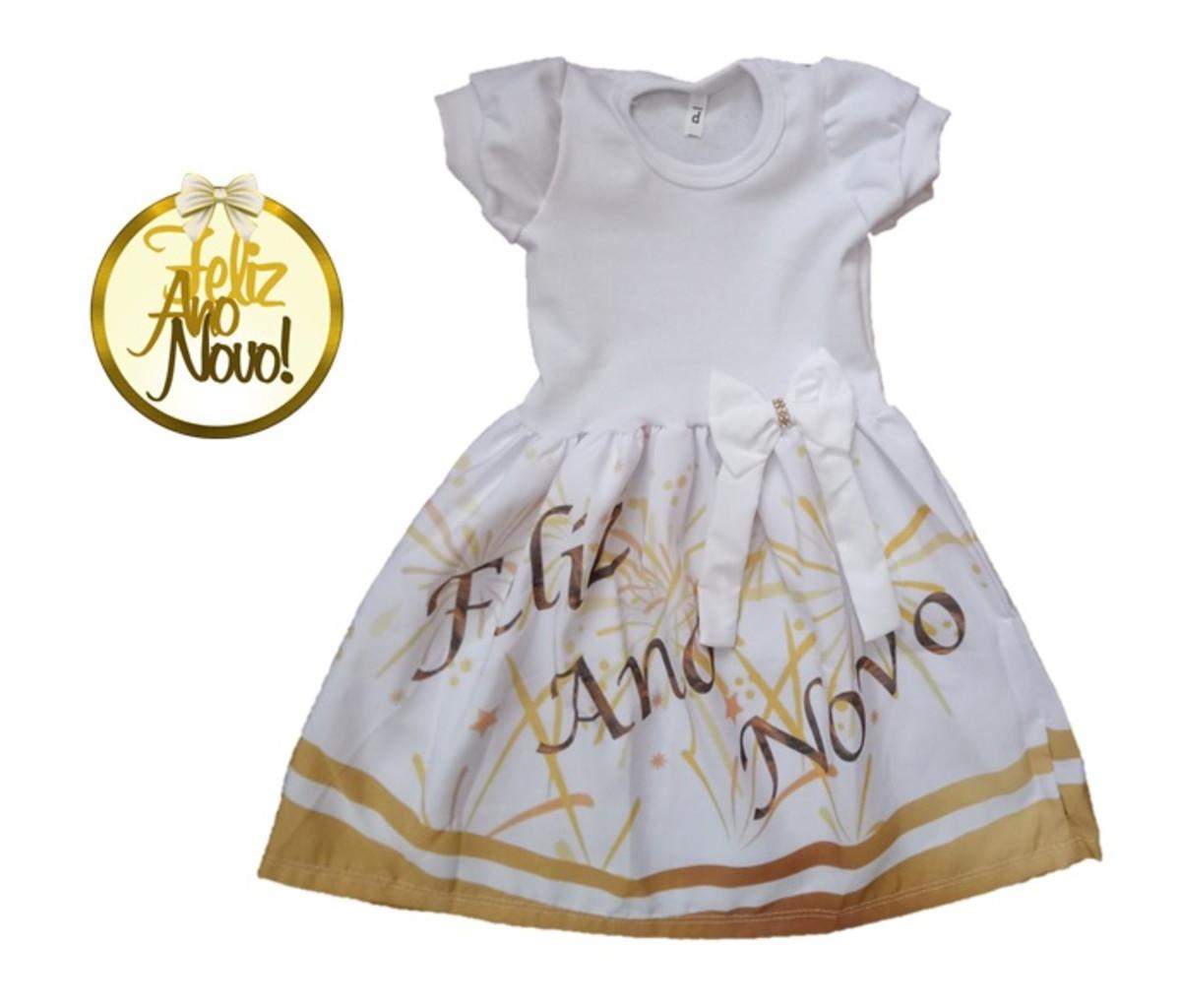 d32c92b79f Vestido Infantil Temático ANO NOVO - REVEILLON no Elo7