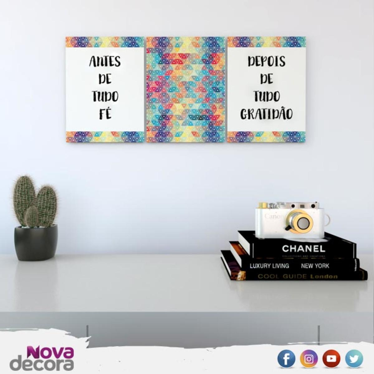 Placas Decorativas Com Frases Antes De Tudo Fé Pl001pdf