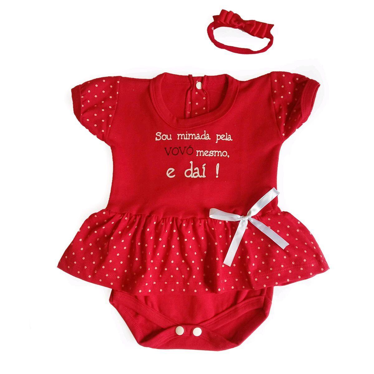 2232893c0 Kit bebê body vermelho