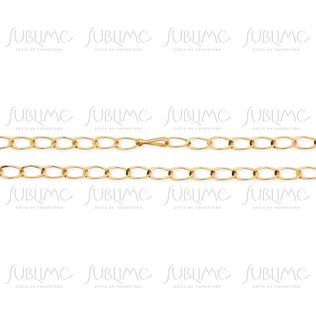 de2d064635273 Corrente larga elos artesanal fabricada á mão 60 Cm Ouro 10k no Elo7 ...