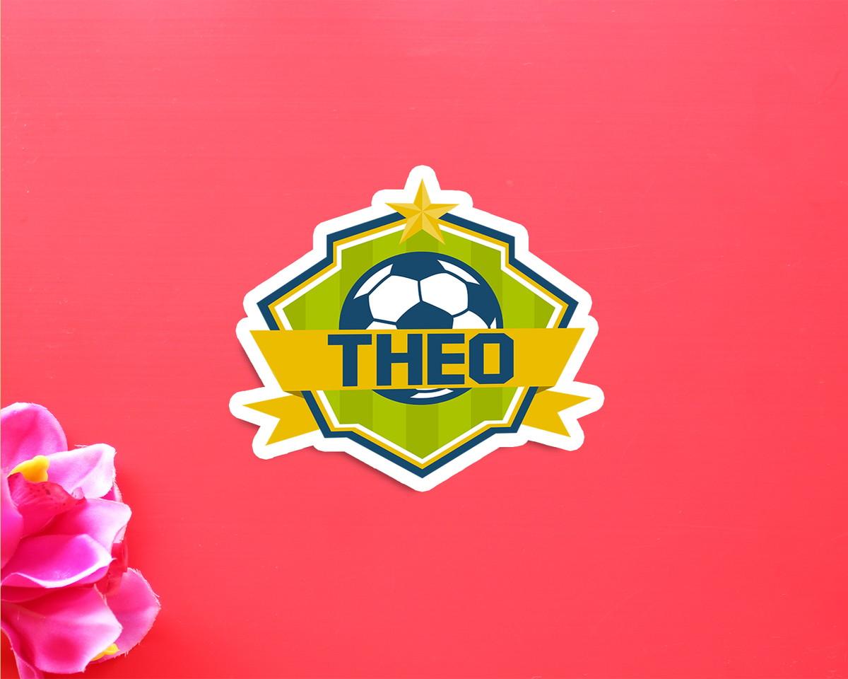 0f602225aad42 Aplique adesivo tag com texto - futebol no Elo7   A Carol que fez ...