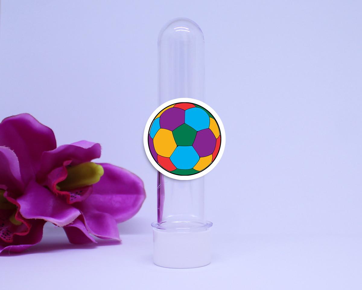 8891b83997 Tubete com aplique- bola futebol colorida no Elo7