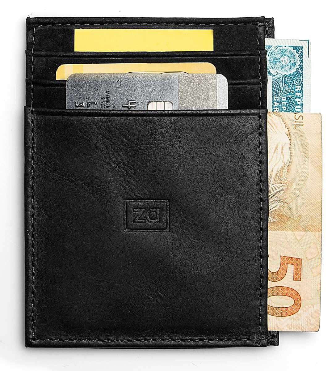 c124ca3ca8 Carteira Masculina Couro Porta Cartão Slim Pequena Zalupe no Elo7 ...