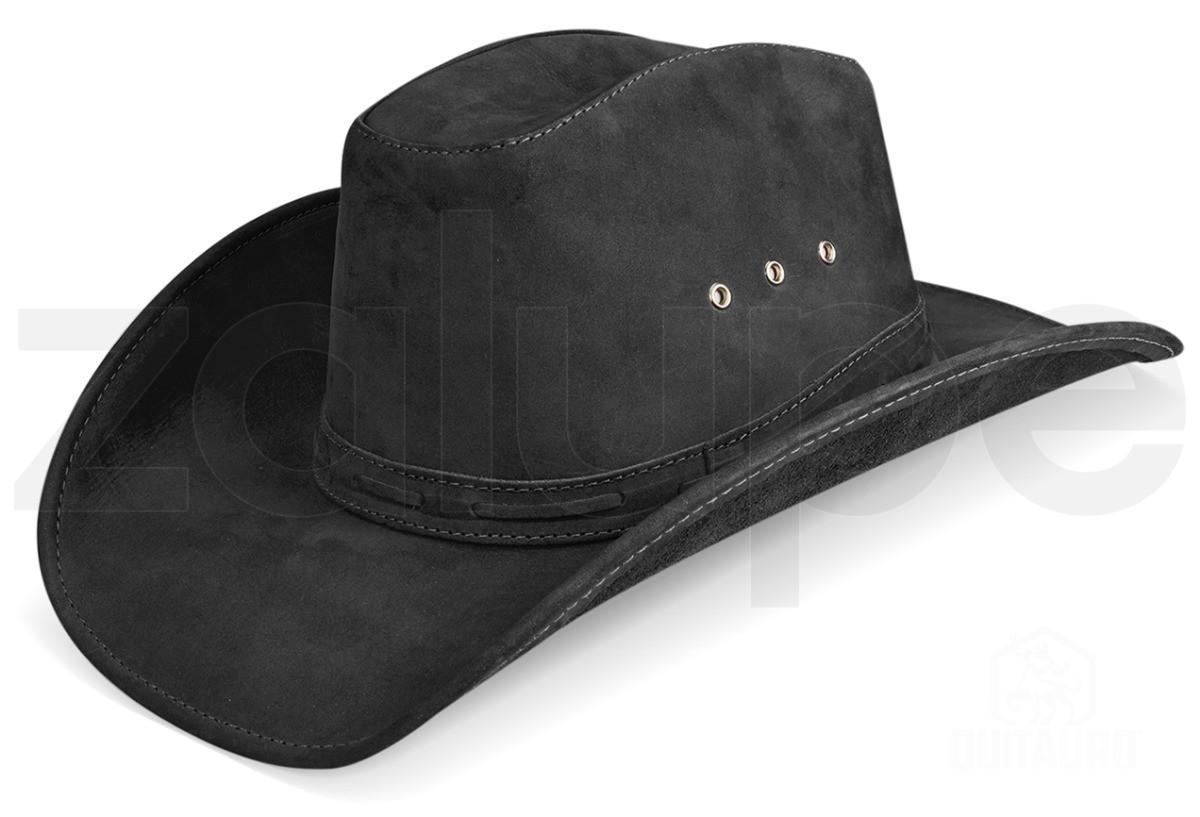 Chapeu Couro Masculino Country Texano Americano Rodeio Preto no Elo7 ... 6ec0328a7f1