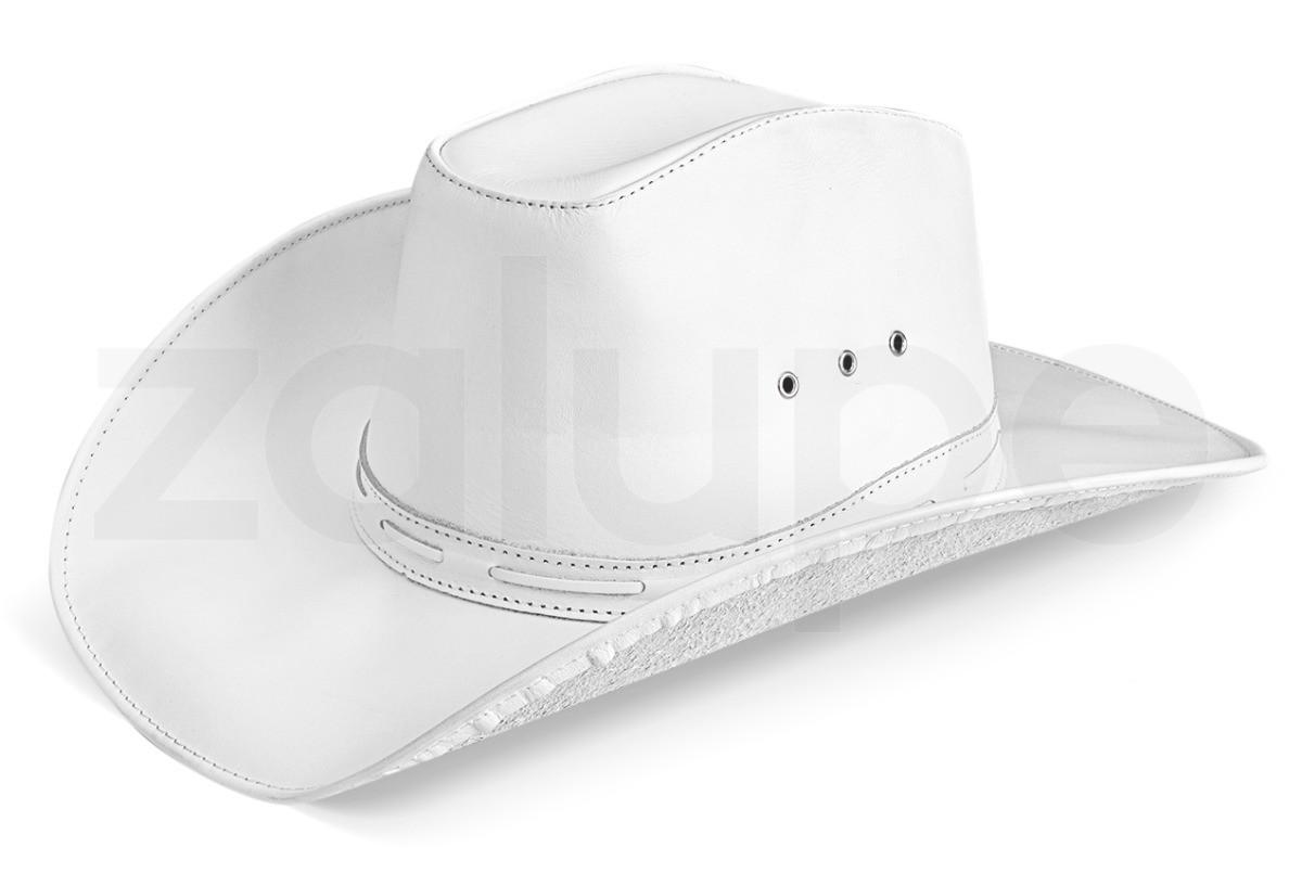 Chapeu de Couro Unissex Country Texano Rodeio Branco no Elo7 ... fb0066d8ee8