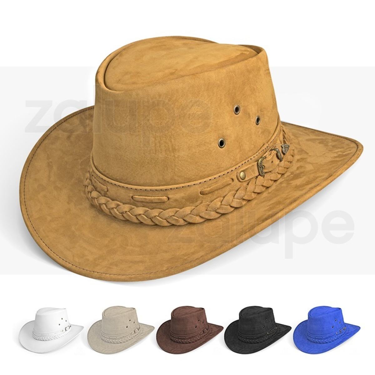 Chapeu Couro Country Australiano Texano Rodeio Bege Unissex no Elo7 ... 00fd8f1f326