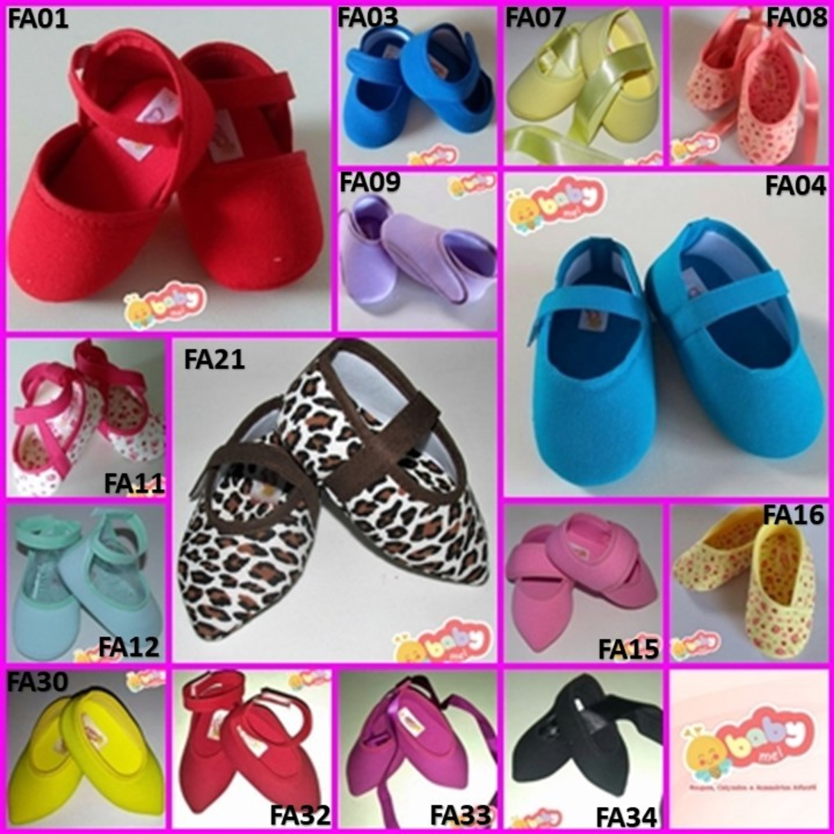 57172e1c0a KIT COM 15 PARES DE SAPATINHOS PARA CUSTOMIZAR no Elo7