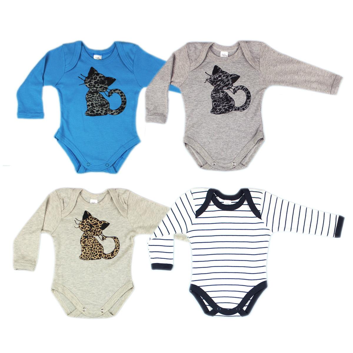 Kit Bebê Body Infantil Menino (4 Peças P) no Elo7  0aa0a24a21d
