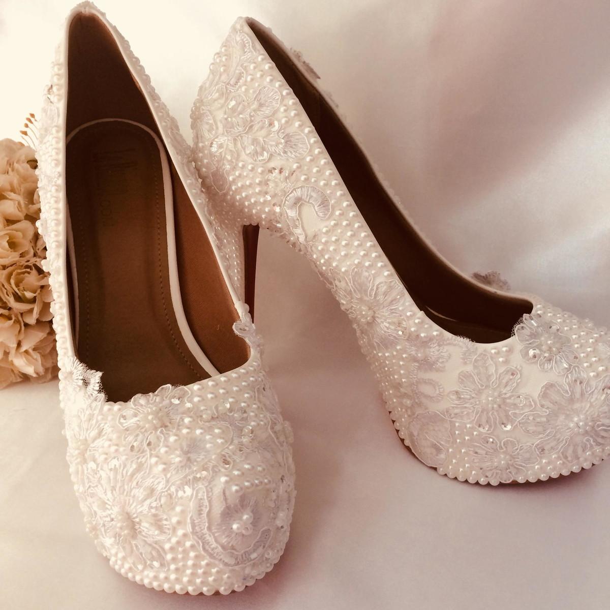 5c1691d877 Sapato de Salto Noiva ou festa no Elo7