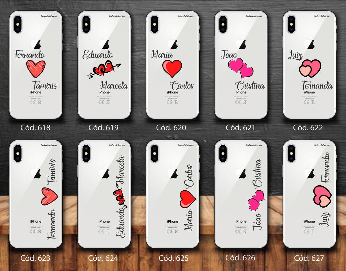 ea43e903f Capinha Capa Case Celular Personalizada Com Nome Casal no Elo7 ...